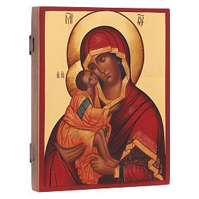 Icona russa Madonna di Don 21X16 cm s2