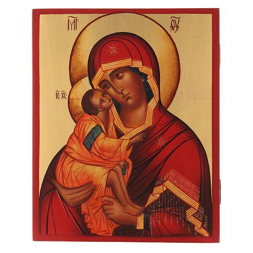Icona russa Madonna di Don 21X16 cm 1