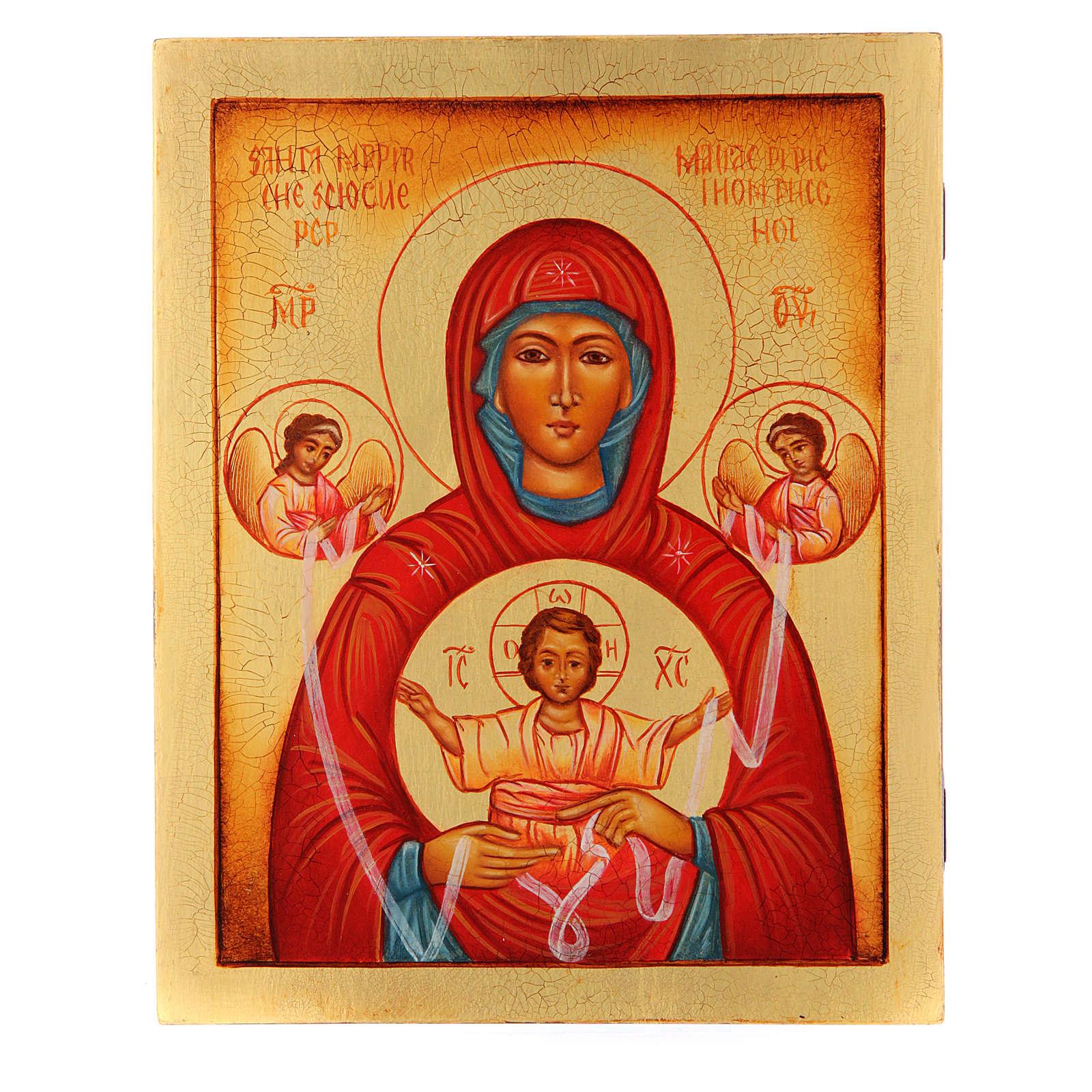 Icona russa Maria che scioglie i nodi 21X17 cm 4