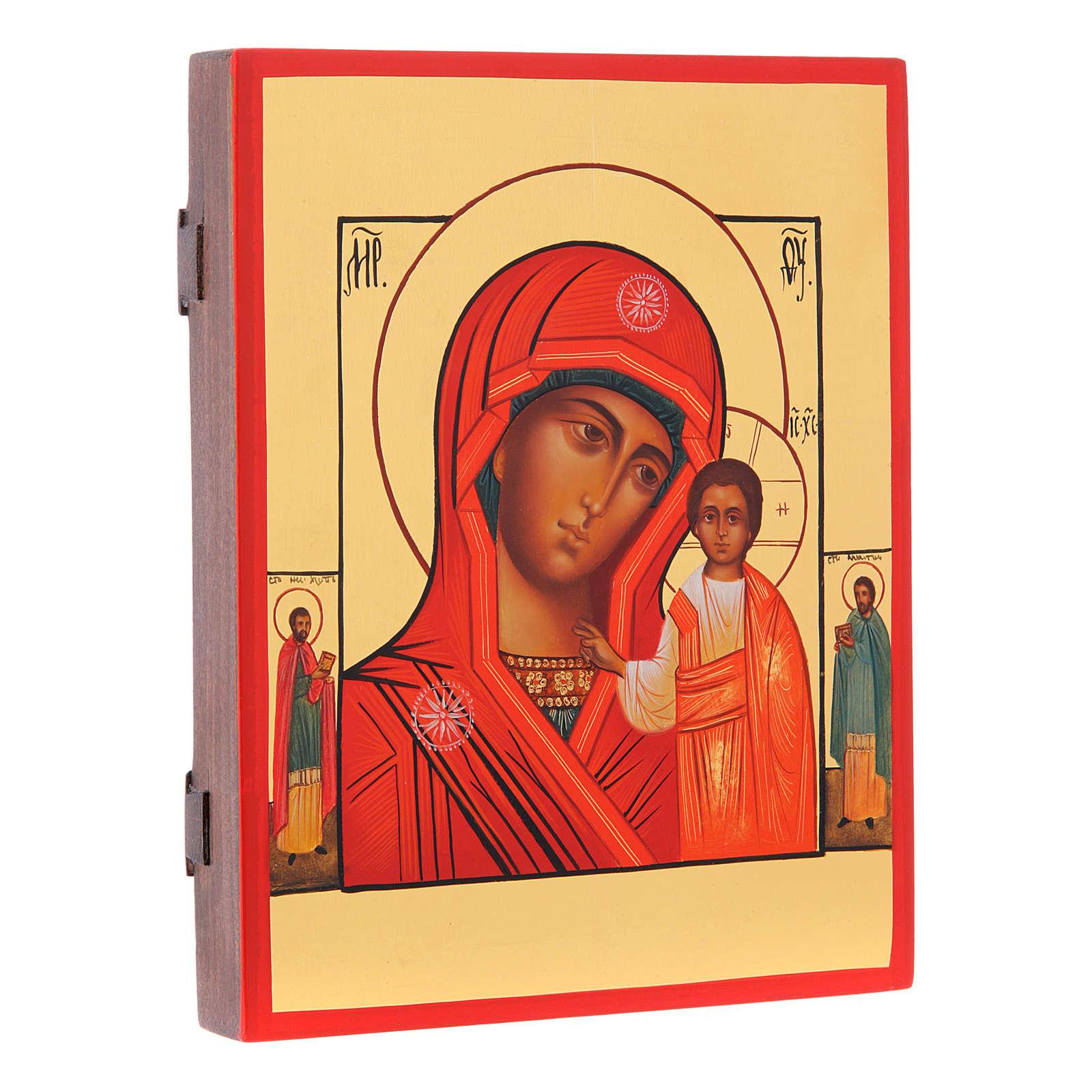 Icona russa Madonna di Kazan 21X17 cm 4
