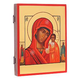 Icona russa Madonna di Kazan 21X17 cm s2