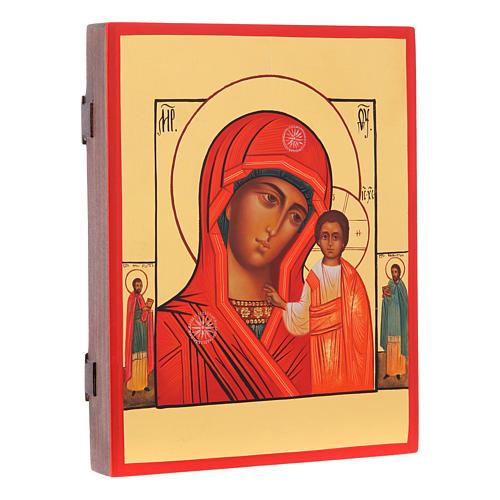 Icona russa Madonna di Kazan 21X17 cm 2