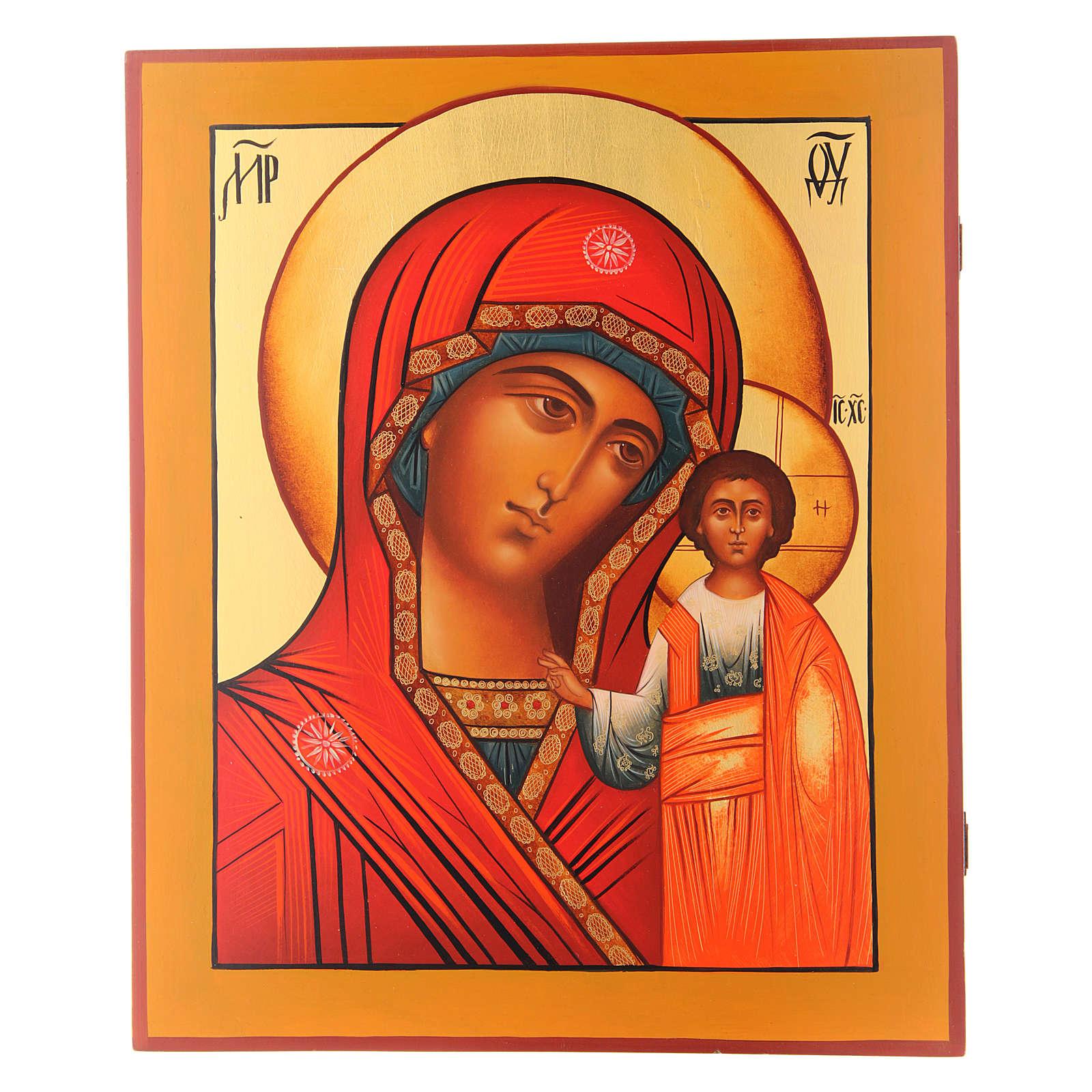 Icono Virgen de Kazan 36 x 30 cm 4