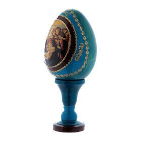 Huevo de madera ruso azul h tot 13 cm La Virgen de la granada s2