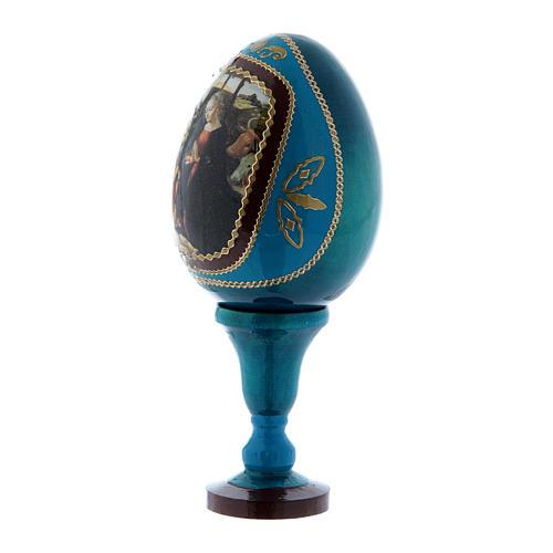 Uovo Natività découpage russo blu h tot 13 cm 2