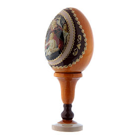 Russian Egg Madonna of the Magnificat, Fabergé style, yellow 13 cm