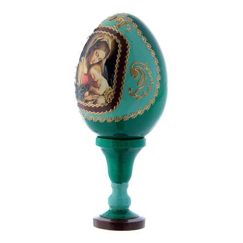 Huevo estilo Fabergé verde ruso Virgen con Niño h tot 13 cm 2