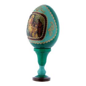 Uovo russo découpage verde La Nascita di Gesù Cristo h tot 13 cm s2