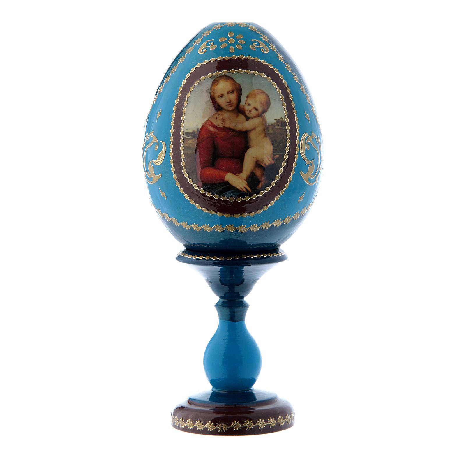 Huevo ruso La Pequeña Cowper azul decoupage h tot 16 cm 4