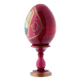 Russian Egg Madonna of the Streets, Fabergé style, red 16 cm