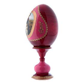 Russian Egg Madonna del Prato, Fabergé style, red 16 cm