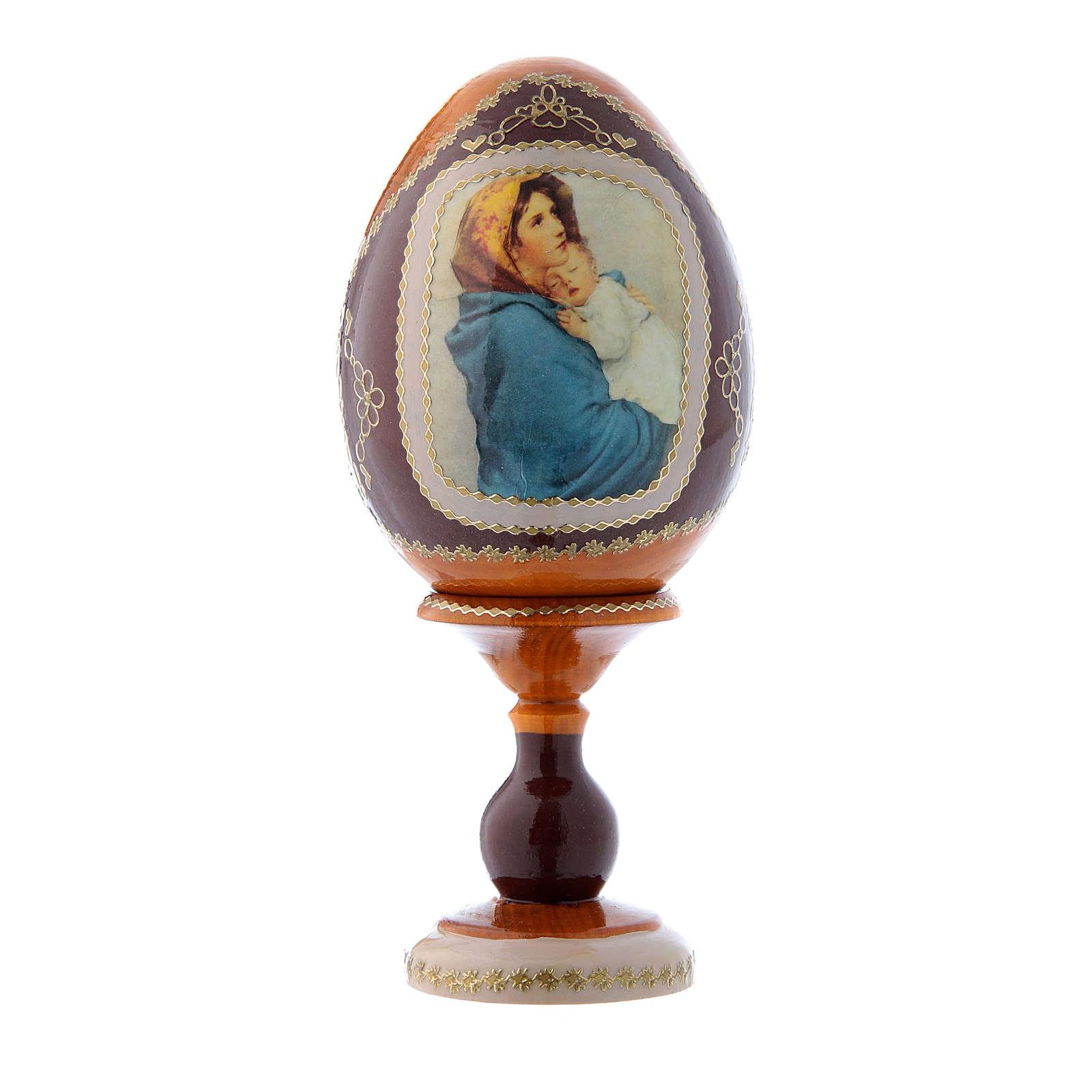 Uovo russo giallo découpage La Madonnina h tot 16 cm 4