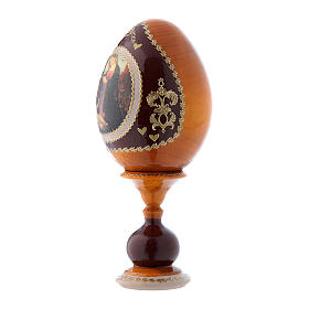 Russian Egg Madonna and Child with the Infant Saint John, Fabergé style, yellow 16 cm