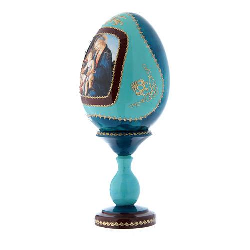 Uovo La Madonna del Libro découpage russo blu h tot 20 cm 2