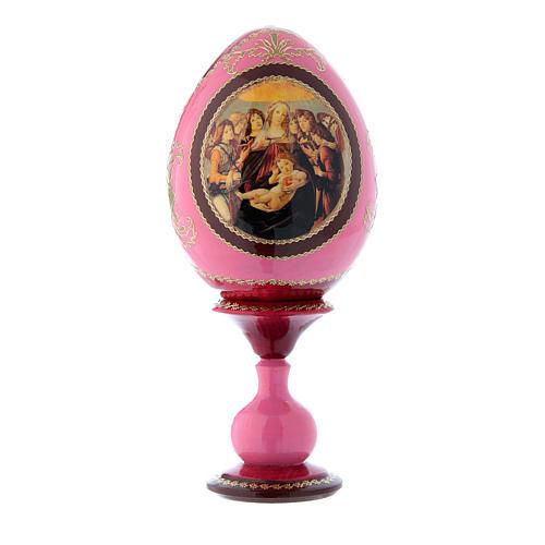 Oeuf style Fabergé rouge russe La Vierge à la grenade h tot 20 cm 1