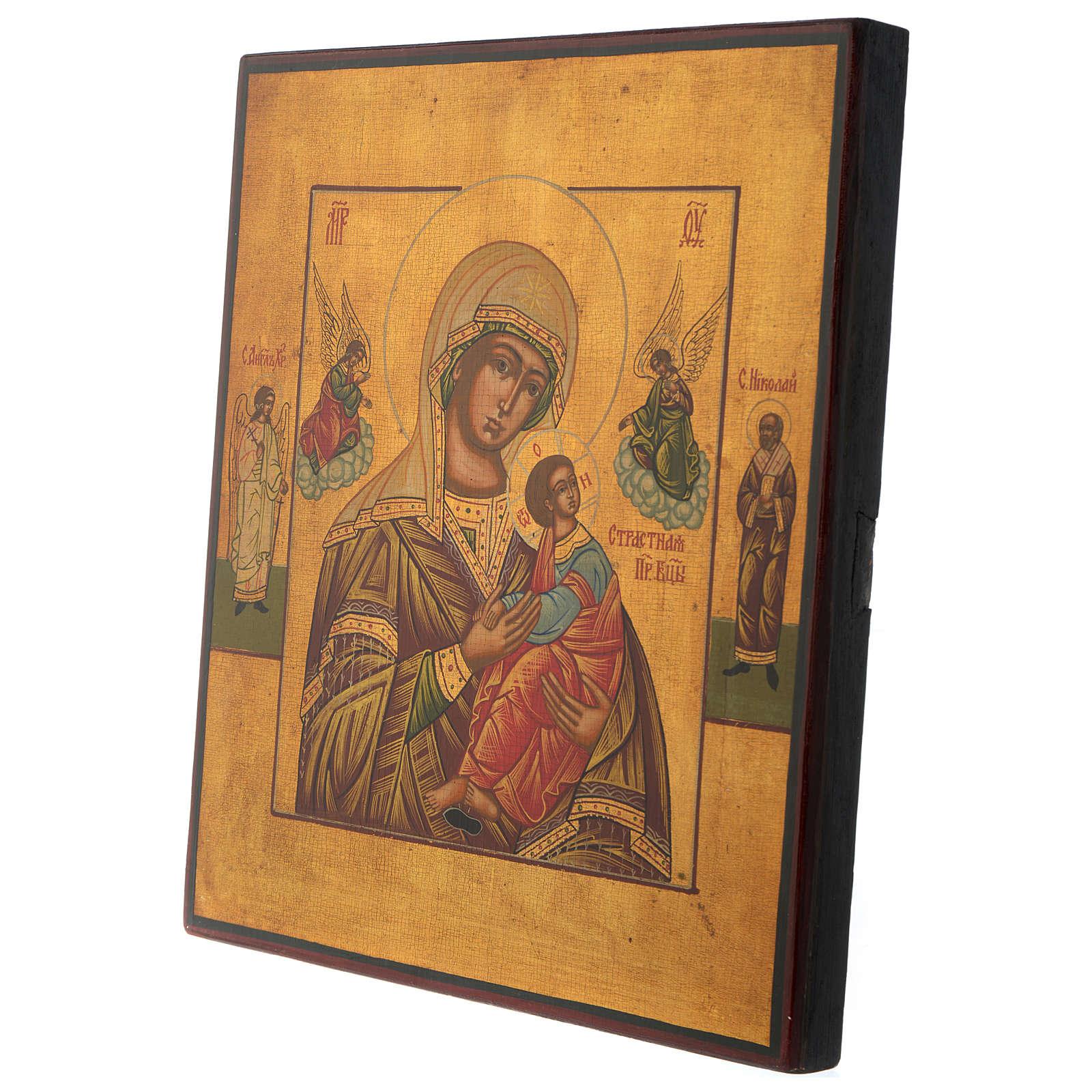 Icona russa Madonna del Perpetuo Soccorso 30x25 cm metà XX secolo 4