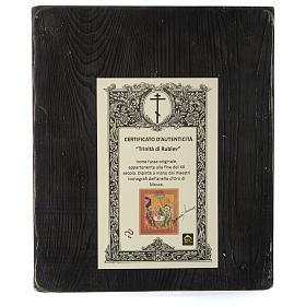 Icona russa Trinità di Rublev 30x25 cm fine XX secolo s5