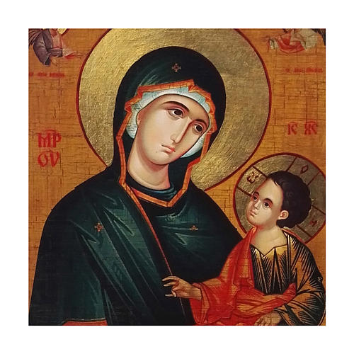 Ícone Rússia pintado decoupáge Nossa Senhora Grigorousa 40x30 cm