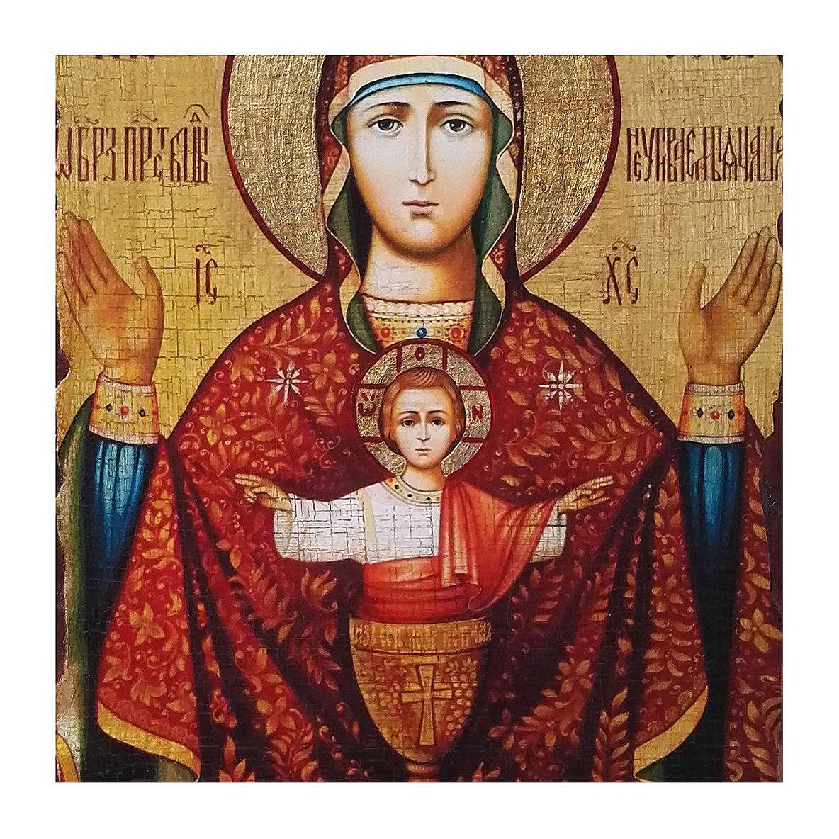 Icono Rusia pintado decoupage Copa Infinida 40x30 cm 4