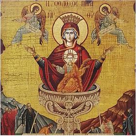 Icono ruso pintado decoupage La Fuente de la Vida 40x30 cm s2