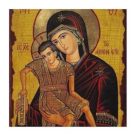 Icona Russia dipinta découpage Madonna Veramente Degna 40x30 cm s2