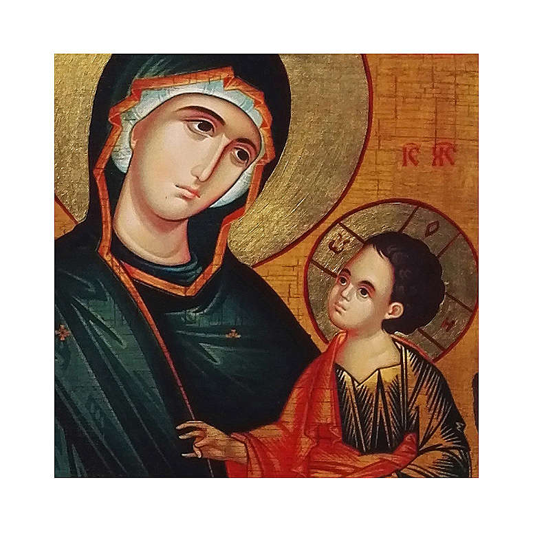 Icono ruso pintado decoupage Virgen Grigorousa 10x7 cm 4