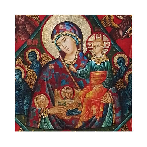 Icona russa dipinta découpage Roveto Ardente 10x7 cm 2