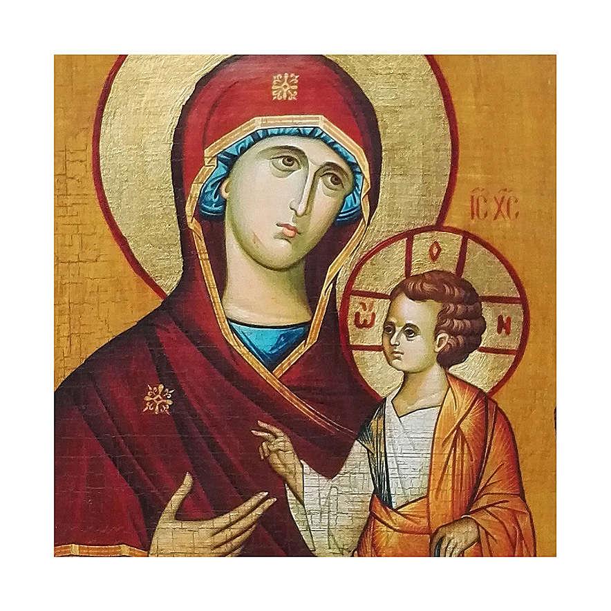 Icona russa dipinta découpage Odigitria di Smolensk 10x7 cm 4