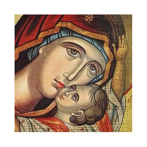 Icono Rusia pintado decoupage Virgen Kardiotissa 10x7 cm 2