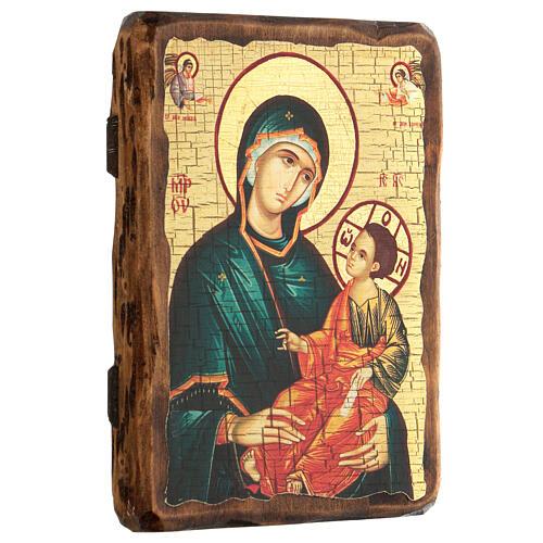 Icono Rusia pintado decoupage Virgen Grigorousa 18x14 cm 3