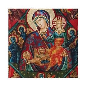 Icono Rusia pintado decoupage Zarza Ardiente 18x14 cm s2