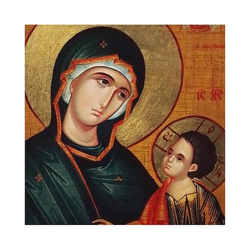 Icona russa dipinta découpage Madonna Grigorousa 24x18 cm 2