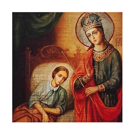 Icona Russia dipinta découpage Madonna della guarigione 24x18 cm s2