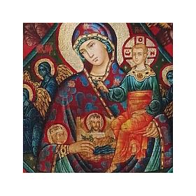 Icona russa dipinta découpage Roveto Ardente 24x18 cm s2