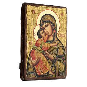 Icona Russia dipinta découpage Madonna di Vladimir 24x18 cm s3