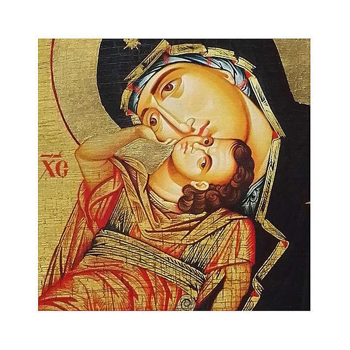 Icona russa dipinta découpage Madonna Eleousa 24x18 cm 4