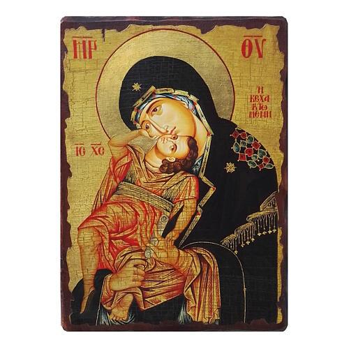 Russian icon decoupage, Madonna Eleusa 24x18 cm 1