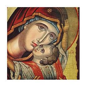 Icona Russia dipinta découpage Madonna Kardiotissa 24x18 cm s2