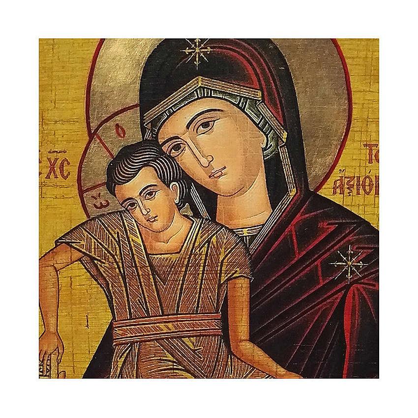 Icona Russia dipinta découpage Madonna Veramente Degna 24x18 cm 4