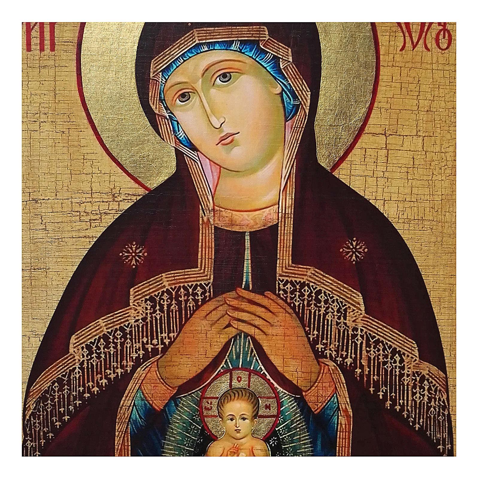 Icône russe peinte découpage Mère de Dieu Aide lors de l'accouchement 18x24 cm 4
