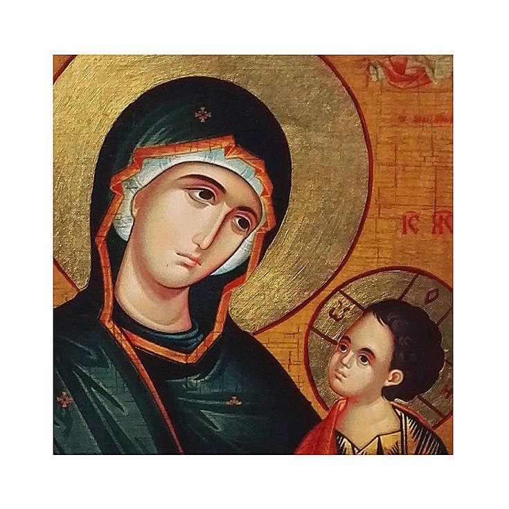 Icona russa dipinta découpage Madonna Grigorousa 30x20 cm 4