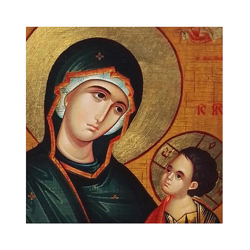 Icona russa dipinta découpage Madonna Grigorousa 30x20 cm 2