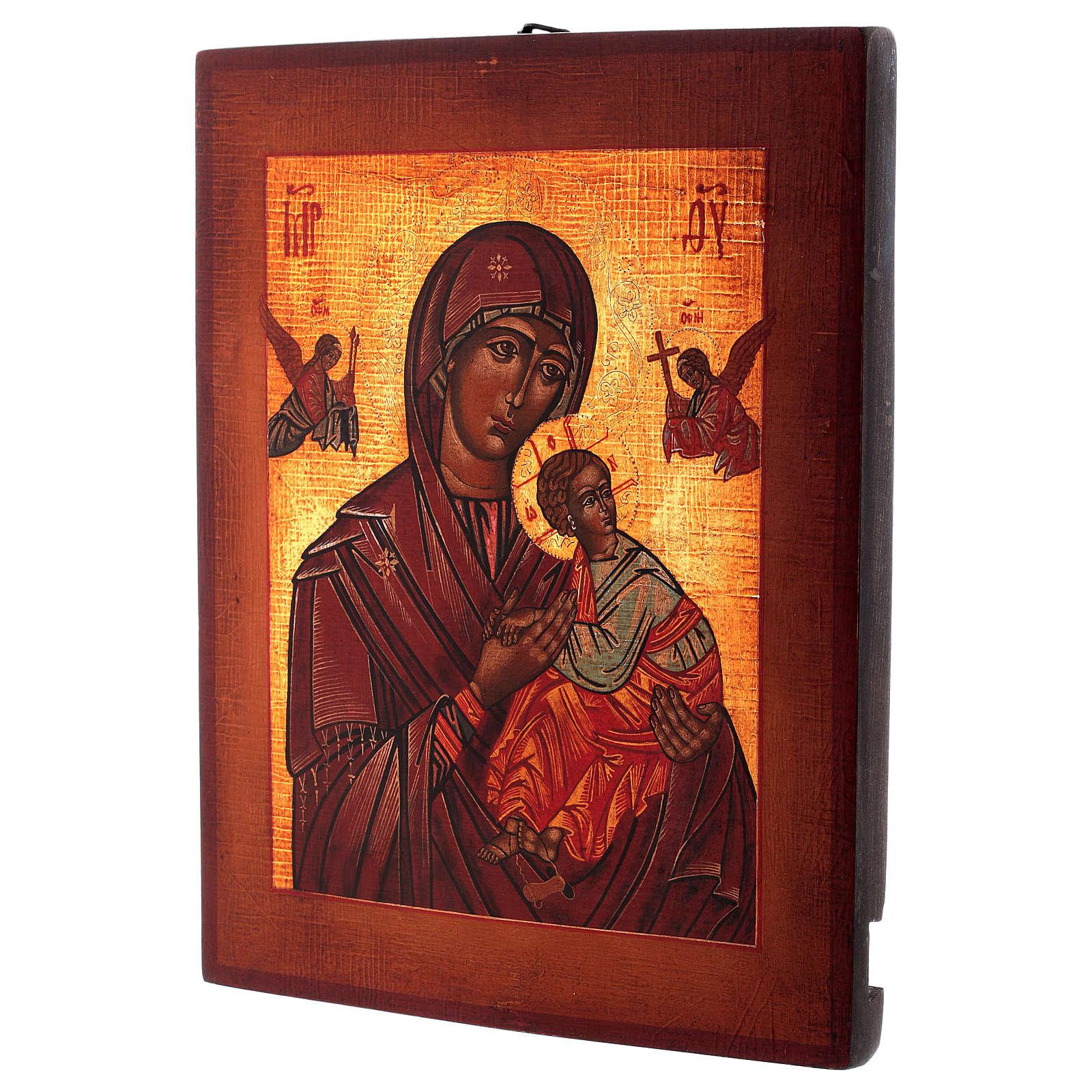 Icône Notre-Dame du Perpétuel Secours style russe peinte 34x28 cm 4