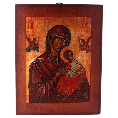 Icône Notre-Dame du Perpétuel Secours style russe peinte 34x28 cm 1