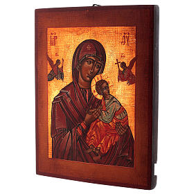 Icona Madonna del Perpetuo Soccorso stile russa dipinta 34x28 cm s3