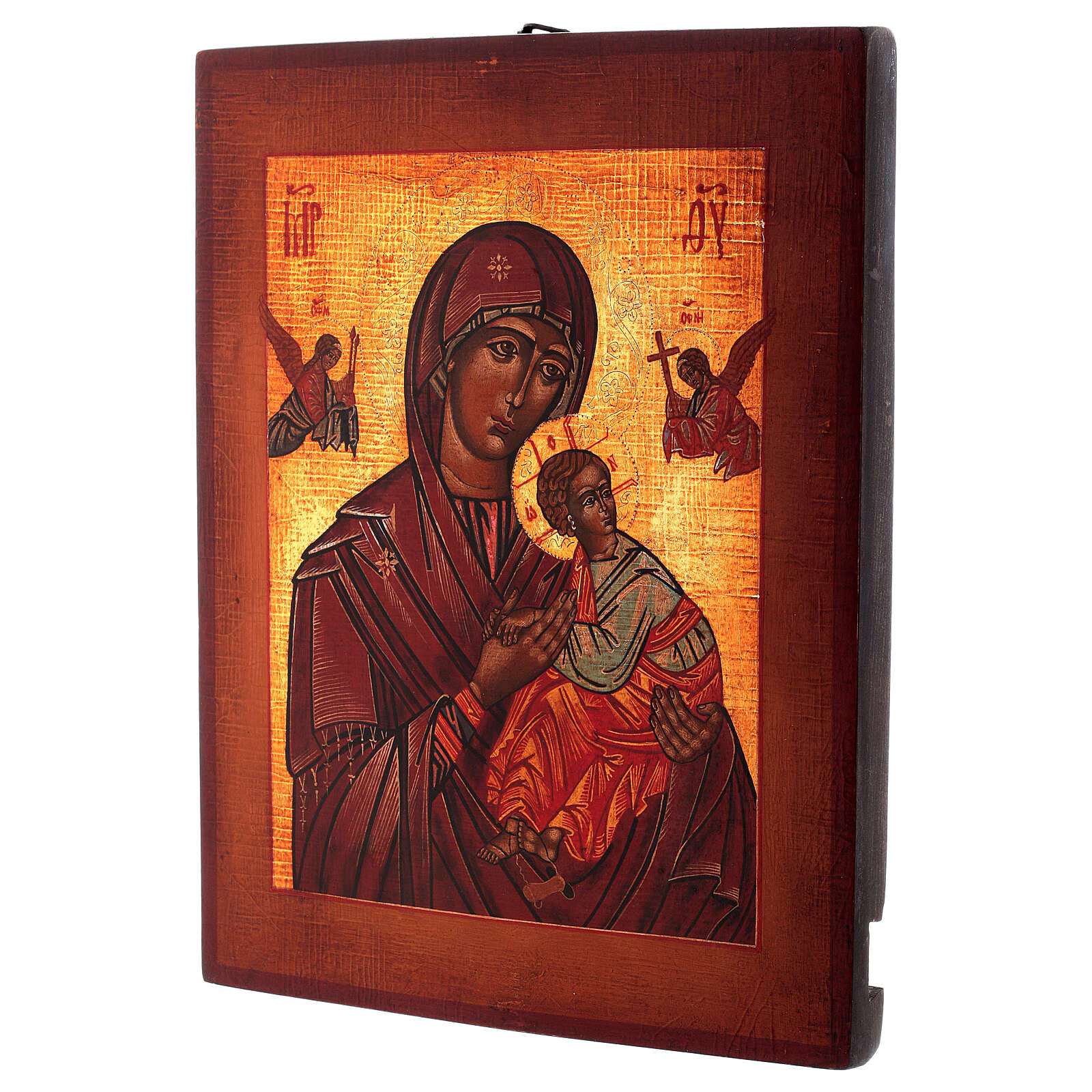 Icon Our Lady of Perpetual Help Russian style painted 34x28 cm 4
