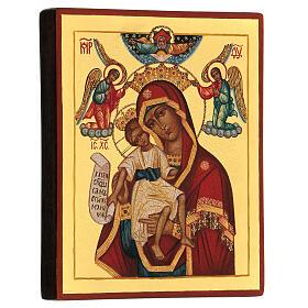 Icône russe peinte Mère de Dieu Il est digne 14x10 cm s3