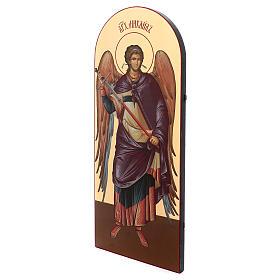 Icône sérigraphiée Archange Michel arc 120x50 cm Russie s2