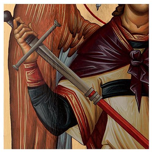 Icône sérigraphiée Archange Michel arc 120x50 cm Russie 3