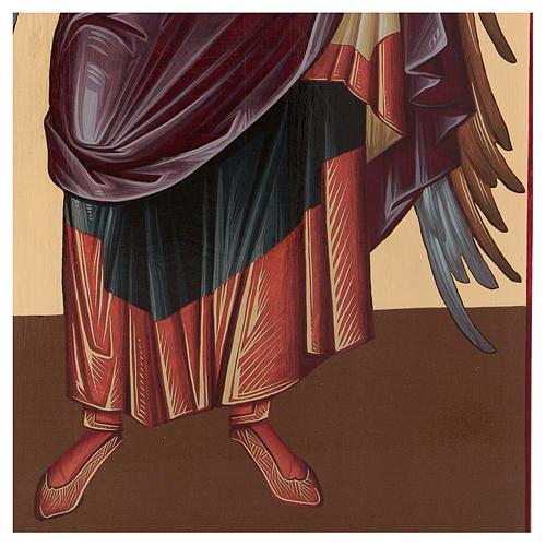 Icône sérigraphiée Archange Michel arc 120x50 cm Russie 5